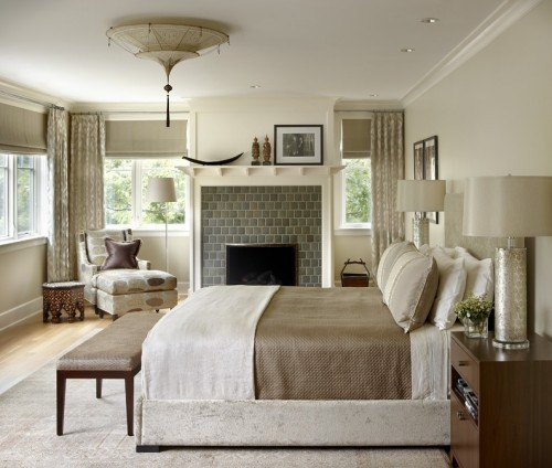 georgianadesign:  Master bedroom of an Evanston, Il, lakefront home. James Thomas, LLC.