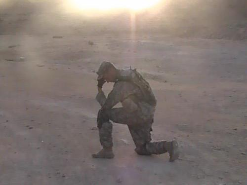 Tebowing in the deserts of Oman at sunrise!