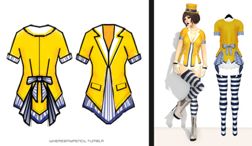 "Outfit designing around the ""Clowning"" theme, mesh realisation in Second Life for EPOCH Legend fashion event."
