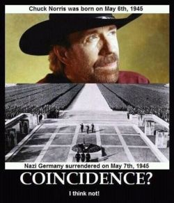 Chuck Norris defeated the Nazi's!