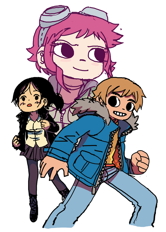 radiomaru:  unpublished scott pilgrim sketch, 2011