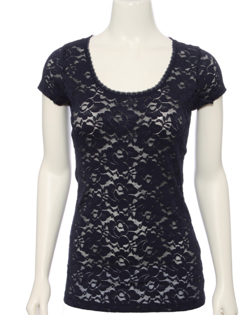 Lace Tee-in black, ivory, navy, pink Rue21 -  $14.99
