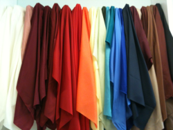 A rainbow of Bemberg rayon lining fabric