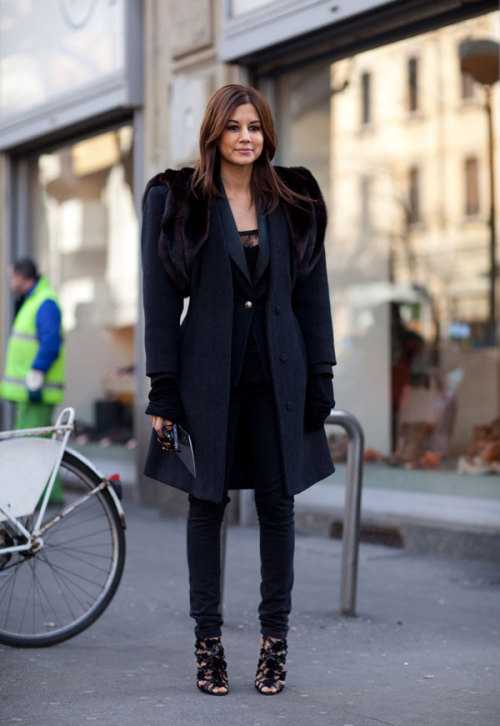 Christine Centenera (via Fashion Editor Street Style: Milan Fashion Week Fall 2012 (Forum Buzz))