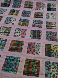 Patchwork cotton fabric by the yard