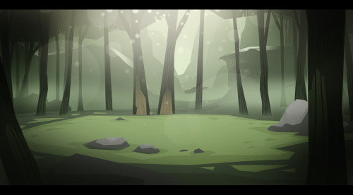 Trying to achieve some atmosphere in a foresty setting.
