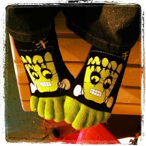 Socks to match my mood! >:[ (Taken with instagram)