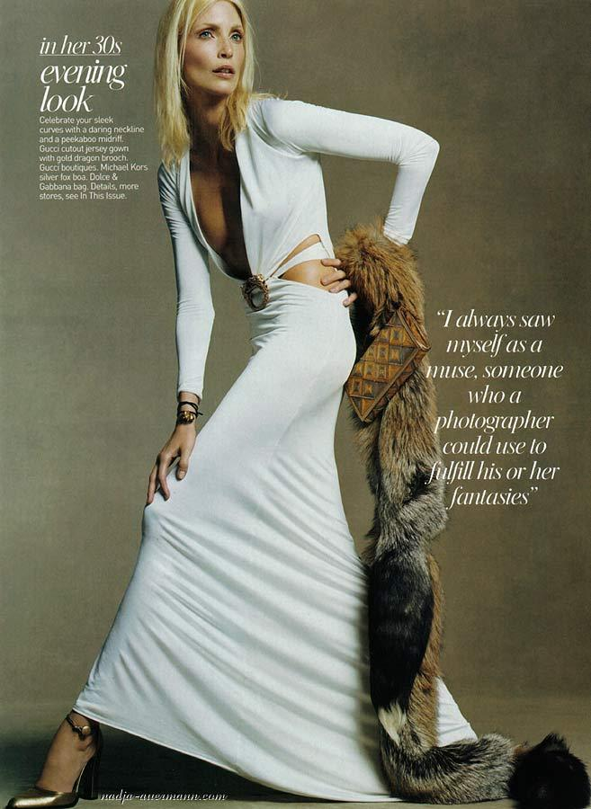"csebastian:  ""The Age Issue"" (+) Vogue, August 2004 photographer: Steven Meisel Nadja Auermann  'In her 30s'"
