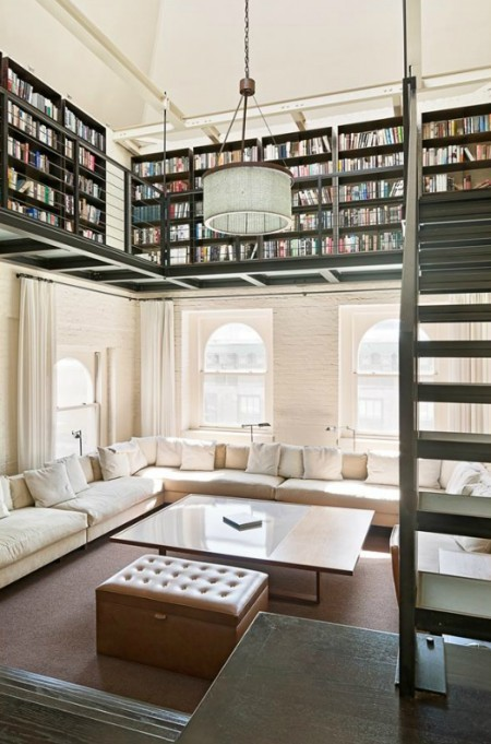combatbabylaura:  Library Loft in the Living Room
