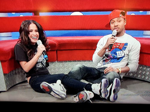 "Rocsi in the Air Jordan 11 ""Concord"" & Terrence J in the Air Jordan 4 ""Cement""  I used to watch this show all the time back in high school haha. damn they got both the shoes i want."