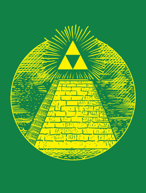 videogamenostalgia:  Masonic Link - by Jonah Block Prints available at Society6 (via: Johah Block's Tumblr)