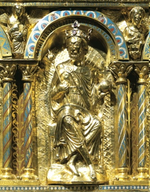 Charlemagne Shrine - Commissioned by Henry IV (1054) Palatine Chapel
