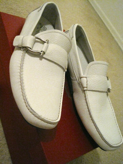Recent pickup, Ferragamo Cabo shoes.