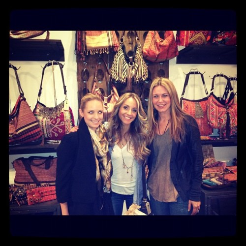 @heathermboos and I were happy to have @gabbybernstein shopping for @opensky tonight. So inspiring! (Taken with instagram)