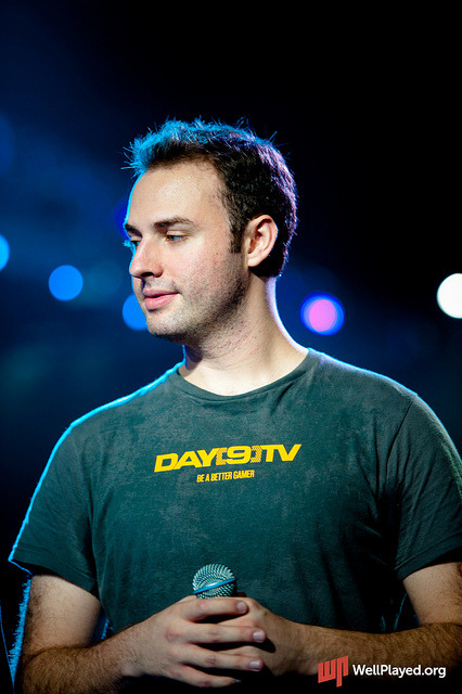 Day[9]  This guy is such a positive force, not just in the gaming community, but his attitude about life in general. Big ups, Sean Plott! :]