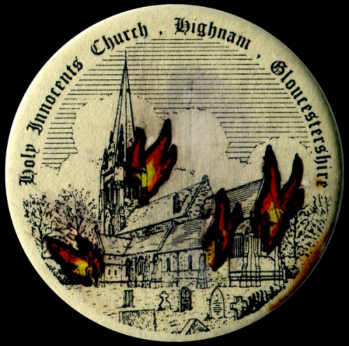 Vintage church badge