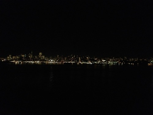 I'm not sure if this picture does it justice, but the view of San Francisco from Alcatraz at night is truly a spectacular one.