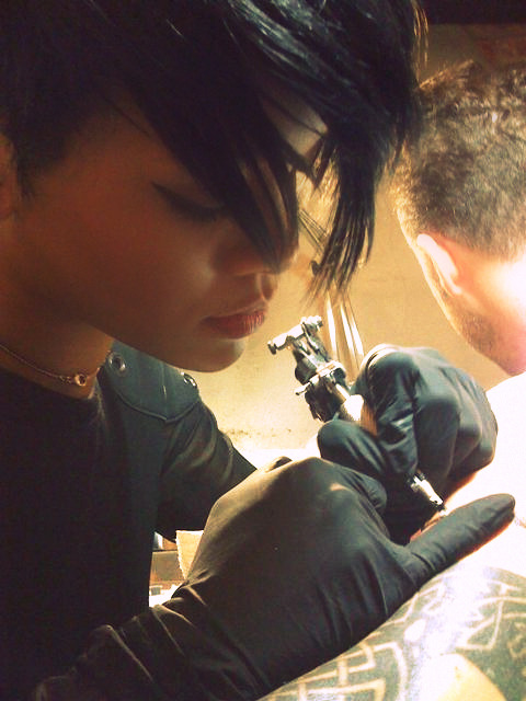 rihanna tatting it up