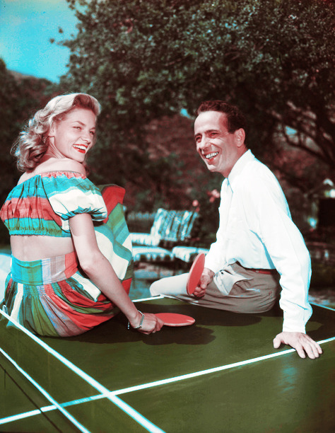 Lauren Bacall and Humphrey Bogart c. 1940's