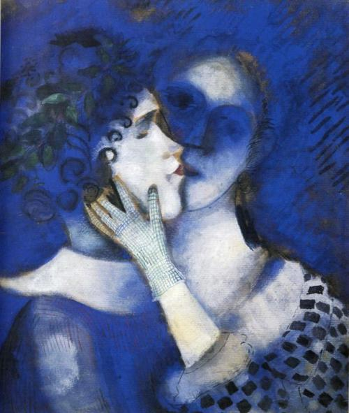 toomuchart:  Marc Chagall, Blue Lovers, 1914.