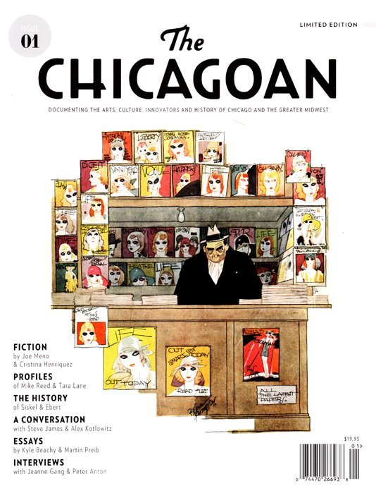 First cover of the new version of The Chicagoan magazine The Chicagoan is a non-profit media organization whose mission is to document the arts, culture, innovators and history of Chicago and the greater Midwest through long-form storytelling.