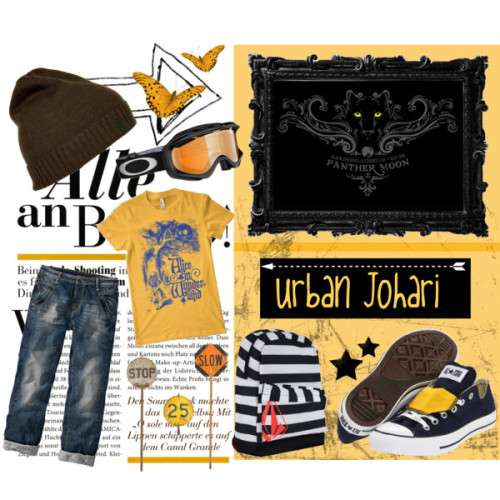 Urban Johari by emucito featuring jersey teesJersey tee, $20Boy friend jeans, €45Converse eyelet shoes, $50Volcom back pack bag, $39Polo Ralph Lauren foldable hat, $40OAKLEY Ambush Goggles, $801STDIBS.COM - Urban Country - Anonymous - Set of Three Vintage…