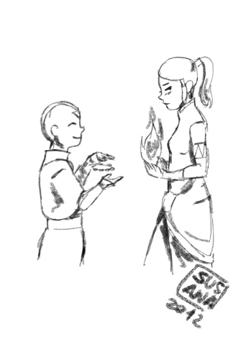 geekdonnatroy:  Aang and Korra for richardjohngrayson