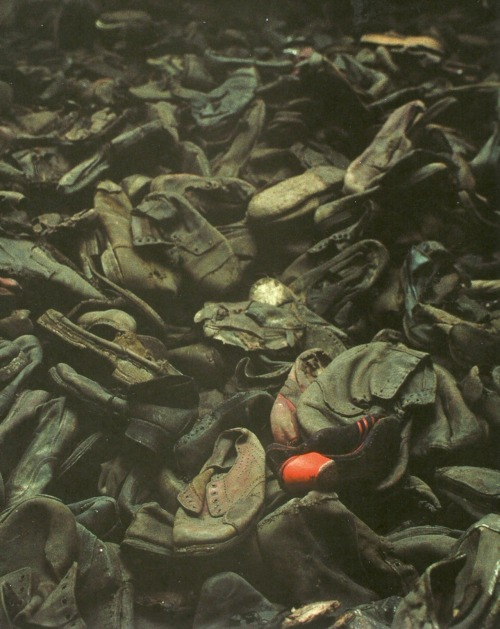 Shoes belonging to deportees in the Auschwitz extermination camp