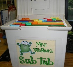 A must-do: Sub Tub The link will let you know what should be in the sub tub.