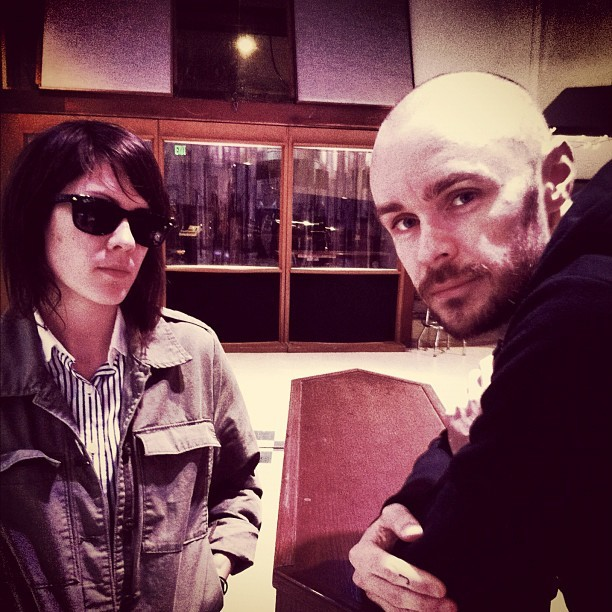 gokillthelights:  Tegan and Hunter in studio!!! :D