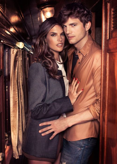 HQ- Alessandra Ambrosio & Ashton Kutcher for COLCCI Fall/Winter 2012 Ads.