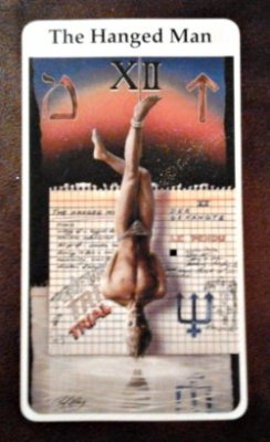 Our card for today is The Hanged Man.  The Hanged Man does not die.  He exists in a state of suspended animation.  He sacrifices indefinitely.  What are you trading for forward movement in your life?  Is it worth it?  How long will you hang there and what will you have gained for your suffering?