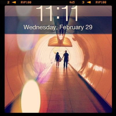11:11 wishing on a day that comes only every 4 years.:) make it count!<3 (Taken with instagram)