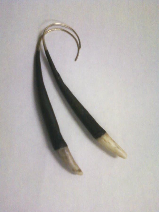 antler earrings oxidized