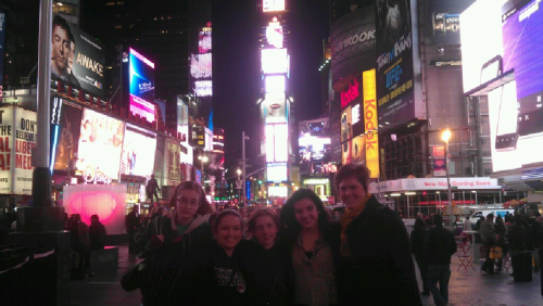 The Girl Scouts from my council went to Times Square last night!