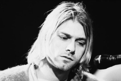 11/18/93 - Kurt Cobain at rehearsals in the Sony Music Studios for MTV Unplugged in New York.