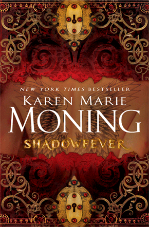 "Shadowfever (and thoughts on the whole Fever series) by Karen Marie Moning Phew. Picture me whistling right here, because this was one hell of a book, and one hell of a paranormal romance series.  For those of you just joining us, you should probably go back to the first book and start reading there, because this is one of those series that is one big story spread across five books, and the last book is over 500 pages. It was long, sure, but I think I read this book even faster than my #1 Paranormal Romance Boyfriend Book, Lothaire.   Okay, sorry, tangent. For those of you just joining us, MacKayla Lane journeys to Ireland to investigate the brutal murder of her sister and finds out that she's part of an ancient line of sidhe-seers (people who can see fae) and oh, there are fae, and also one of them is an incredibly sexy prince who kind of goes Edward Cullen over her, then she falls in with an EVEN SEXIER AND MORE MYSTERIOUS bookstore owner named Jericho Barrons. These books are erotic (there's no other word, I'm sorry, one day I'll go into why I hate that word, but that's what it is) even though sex doesn't appear until the very end of the third book and even then it's NOT what you're hoping for. They're exciting, and they're well-written. This series has about twenty important characters, more recurring characters, and an incredibly convoluted and complicated plot BUT it's still easy to follow.  Can you tell I finished this book today? I'm still in gush phase. I JUST COULD NOT WAIT, YOU GUYS.  MacKayla is a terrific character. She's believable. Throughout the series, she made decisions that, even if I wouldn't have made them myself, I understood. Even though she starts the series as naive and overly perky, she never once veered into Too Stupid To Live territory.  Barrons … well, I gotta be straight with you. He can be a total asshole. He can be creepy. He is most definitely an alpha dude. If that floats your boat (I say, ""Anchors away, Captain!""), then you'll enjoy it. If you are really NOT into alpha dudes, stay far, far faaaaaaaaaaaaaaaaarrrr away because basically every dude in this paranormal world is BRVTAL.  The worldbuilding is terrific. It's not as seamless and gorgeous as, say, Daughter of Smoke and Bone, and there are times when it gets a bit infodumpy, especially in the last book. There's a few scenes where villains do that whole movie villain thing where they wax their mustaches and say ""DON'T YOU WANT TO KNOW EXACTLY HOW BRILLIANT MY EEEEVIL PLAN WAS?"" But at the end of the day, Moning did a great job of incorporating fairies (or faeries, I guess) into modern Dublin, and an even better job after something INCREDIBLY SPOLIERY SO I WON'T SAY IT happens.  There are times when the writing is strained, and there are a few metaphors that are just BAD (the peacock who's lost its feathers and grown claws was a particularly clunky one), and there are points where something SUPER EXCITING happens and there's a chapter break and some narrative introspection before we pick up the action again, and can I just say, that is a terrible writing device and let's all send it back to Satan and whatever terrible thriller novels he's writing in Hell and shipping up to Dan Brown.  Still, I'd say this is a stellar paranormal romance series. There are 600+ Amazon reviews and also a FeverCon and people apparently love this series so much they get Fever-inspired tattoos on their body, so I can say that I am officially late to the game on this one. I'm kind of glad, because I didn't have to wait a year or more between books, and since the series is really one long story it helps to have a clear memory of what happened in the last book.  On the other hand, her next book isn't coming out until Halloween. God dammit, what am I supposed to do until then? Someone talk me out of ordering $30 Fever-themed tarot cards."