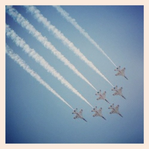 America! At the Maxwell Air Show. #ig #cool #nikond700 #instagramhub #instagram #usaf #airforce #montgomery (Taken with instagram)