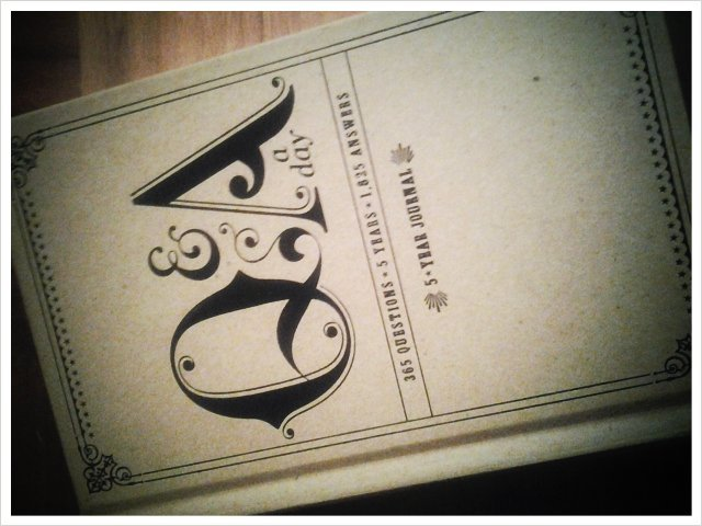 Love my new 5 yr Q&A journal! Thanks, @vfcastro! (Taken with picplz.)