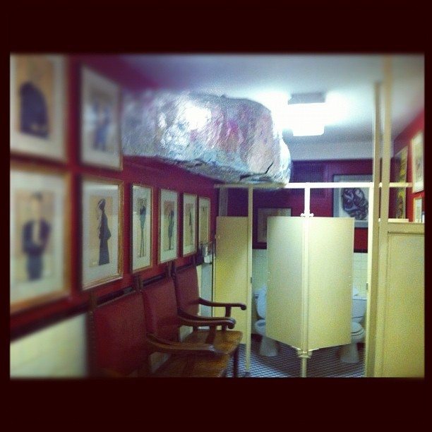 Bathroom in the Player's Club #nyc #travel #work  (Taken with instagram)