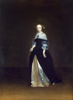 casimir-perier:   Portrait of Catarina van Leunink - Gerard Terborch
