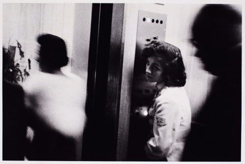 Elevator, Miami Beach, 1958. Photo by Robert Frank
