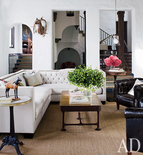 georgianadesign:  Sheryl Crow's Hollywood Hills home in Architectural Digest.