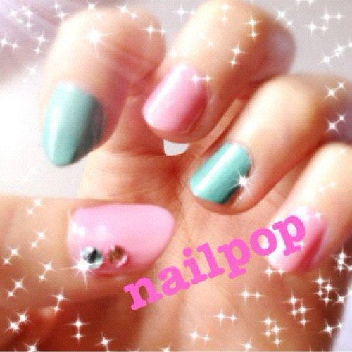 Pastel for spring #nailart (Taken with instagram)