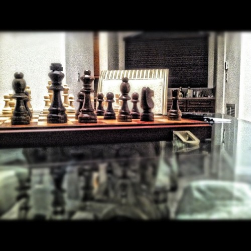 Chess is not a game… It's a art!  (Taken with instagram)