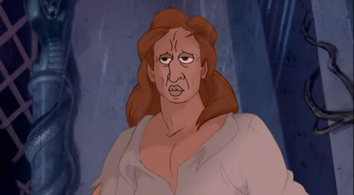 "The prince in ""Beauty and the Beast""s face always bugged me. So I swapped it with ""Handsome Squidward"". :P Submission from Ellie."