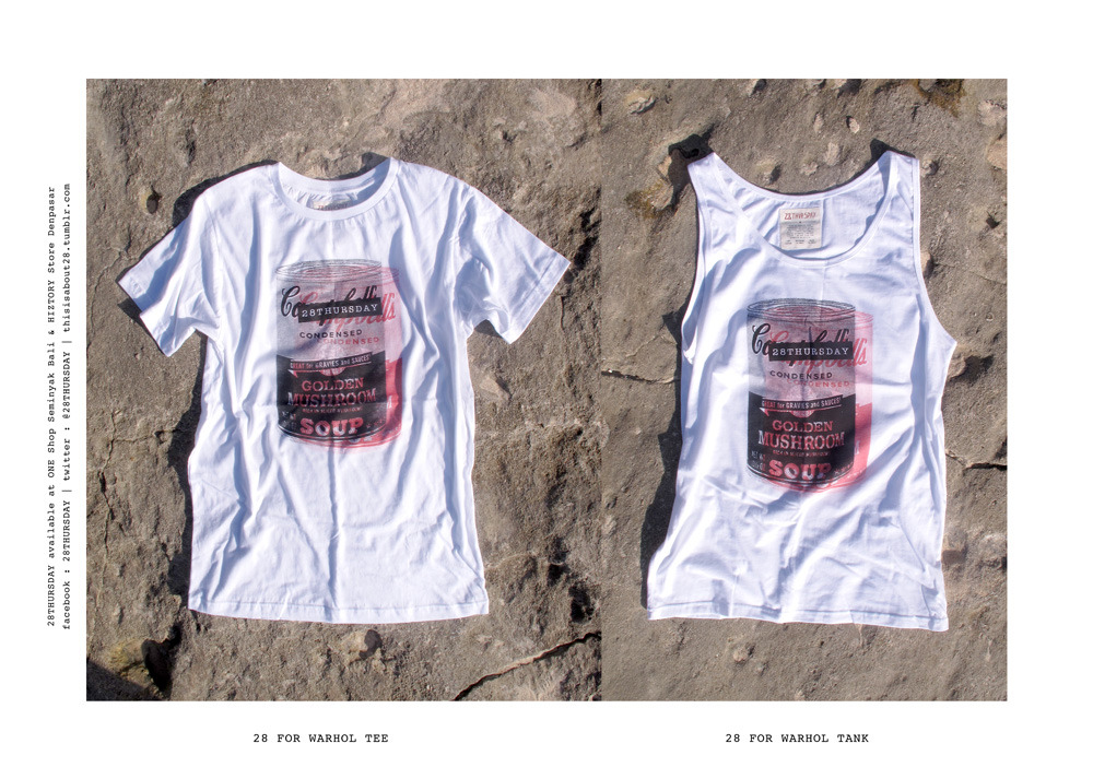 THE SECOND COLLECTION OF 28THURSDAY - 28 FOR WARHOL TEE / TANK