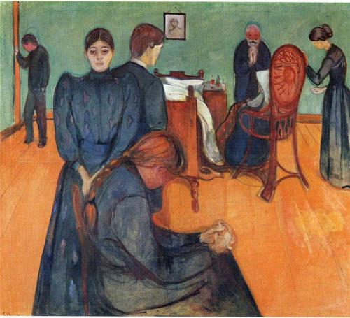Edvard Munch Death in the sickroom, 1893 oil,canvas 134.5 x 160 cm