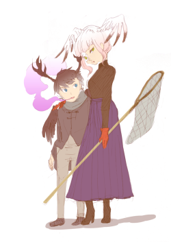 nimnime:  a little baby dante and mummy chartreuse chillin'  ;_____; my babies…. ILU BAWWW