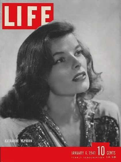 Katharine Hepburn on 1941 LIFE magazine